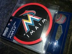 1 - 4 Pack Vinyl Drink Coasters - Miami Marlins