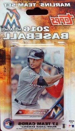 2016 Topps Miami Marlins Baseball ~ 17-Card Sealed Team Set