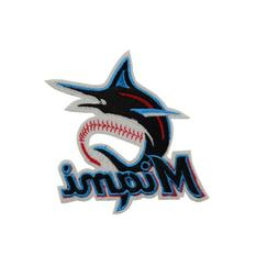 2019 MLB Miami Marlins Fan Sign DIY Embroidered on patch clo