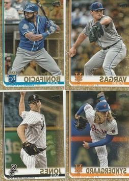 2019 TOPPS SERIES 2 BASEBALL GOLD PARALLEL U-PICK COMPLETE Y