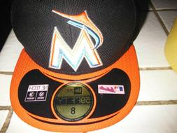 New Era 59FIFTY Miami Marlins Authentic Orange Fitted Baseba