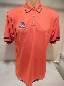 9601-14 MLB Apparel MIAMI MARLINS Performance Polo Golf Jers