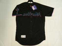 Authentic Miami Marlins Alternate Black Flex Base Jersey 48