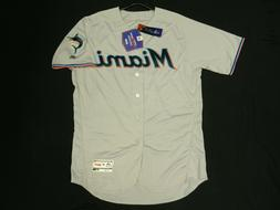 Authentic Miami Marlins Road Gray Flex Base Jersey 40