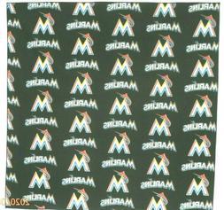 Bandanna for Miami Marlins Baseball on Black 100% Cotton #29