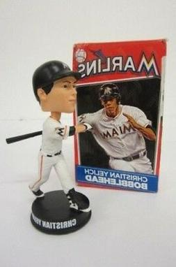 CHRISTIAN YELICH BOBBLEHEAD MIAMI MARLINS MLB BREWERS NEW UN