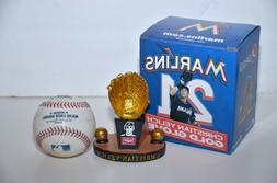 Christian Yelich Replica Gold Glove Trophy MLB Miami Marlins