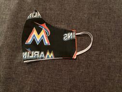 Custom Handmade Fabric Face Mask Reverseable Baseball Miami
