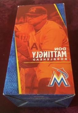 Don Mattingly Miami Marlins MLB AquaFina Bobble head Brand N