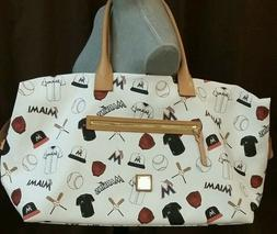 Dooney & Bourke Florida Miami Marlins Baseball Leather Duffe