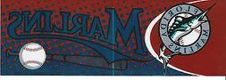 Florida Marlins Bumper Sticker MLB Baseball Logo Rare 2002 O