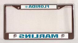 Florida Marlins Chrome License Plate Frame