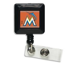 "Florida Marlins Official MLB 1""x1"" Retractable Badge Holder"