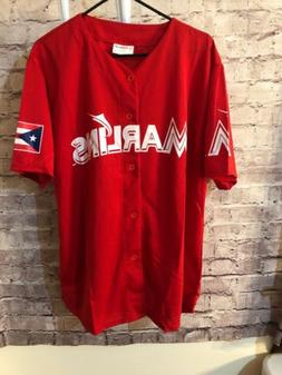 Match up Florida Miami Marlins baseball jersey RED lightweig