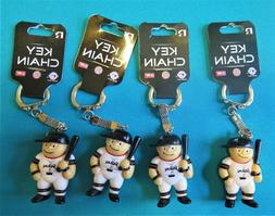 FOUR  MIAMI MARLINS PLASTIC, BASEBALL PLAYER KEY CHAINS FROM