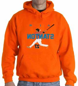 "Giancarlo Stanton Miami Marlins ""AIR HR NEW"" shirt Hooded SW"