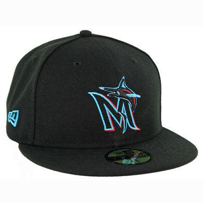 59fifty miami marlins game fitted hat black