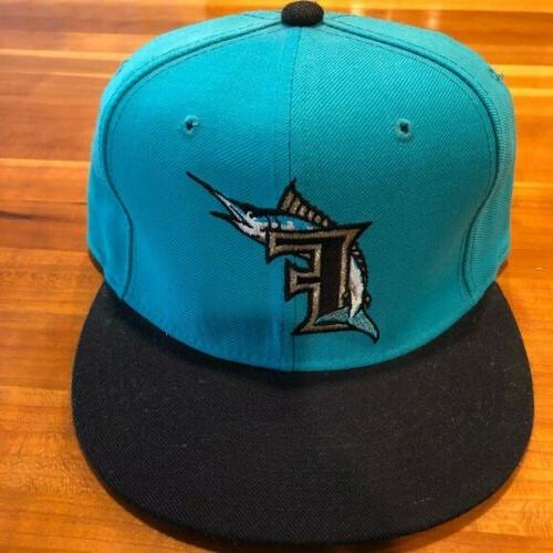 florida miami marlins fitted 5950 teal mlb