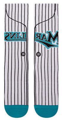 Stance M545D18MAR Men's Marlins Home 2003 Socks, White - Lar
