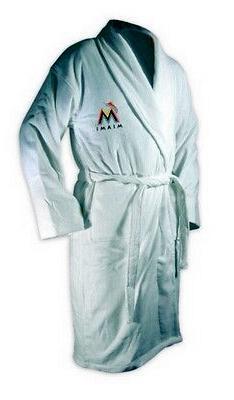 miami marlin white heavy weight bath robe