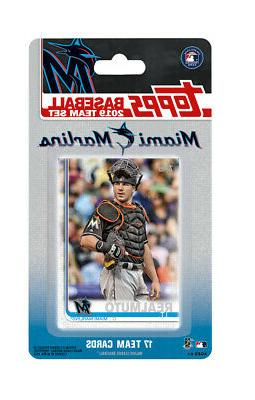 miami marlins 2019 topps factory sealed team