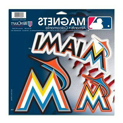 miami marlins 3 pack car magnets