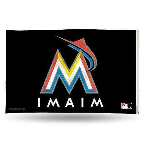 miami marlins 3x5 banner flag mlb baseball