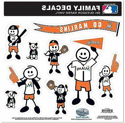 miami marlins 9 piece jumbo family decals