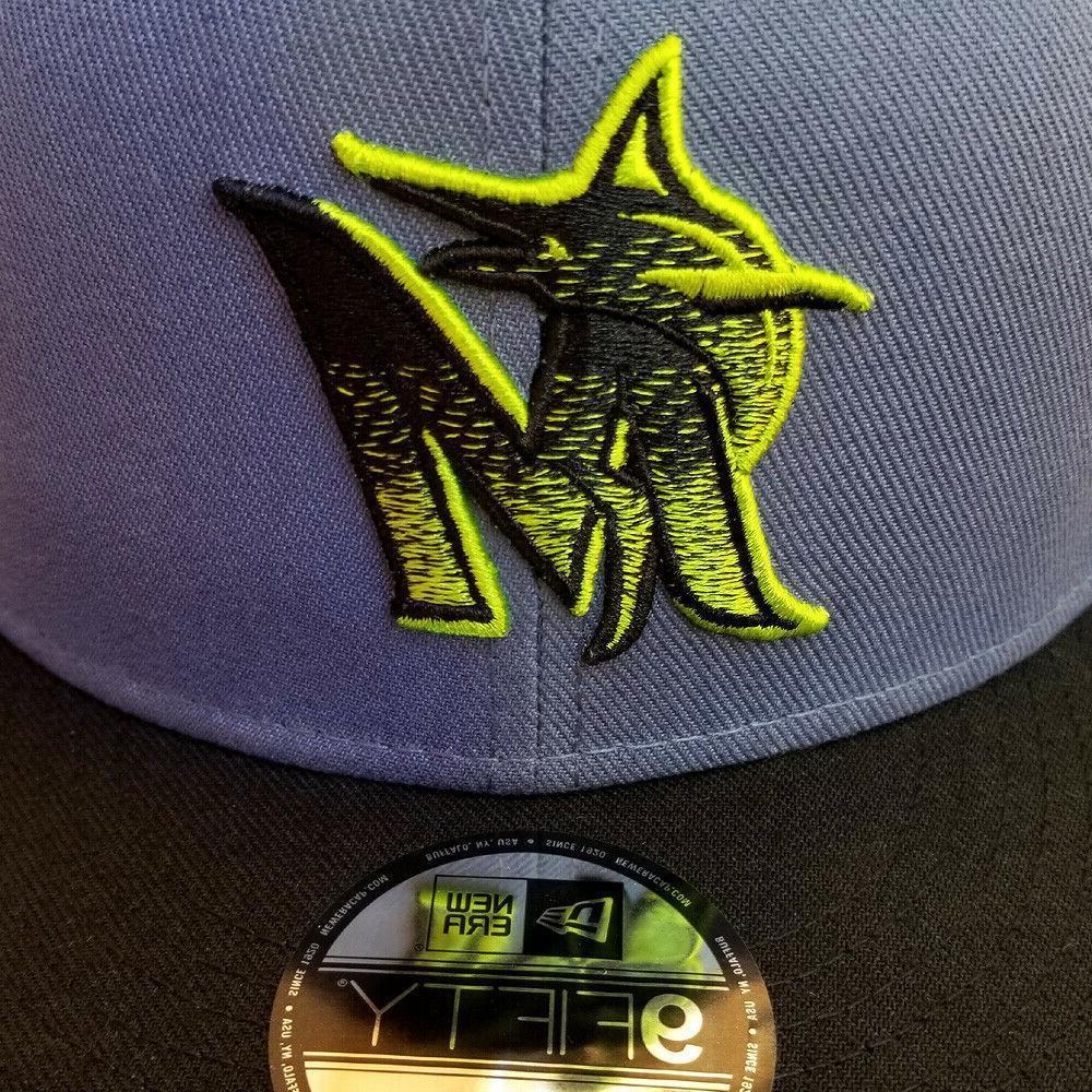NEW ERA Miami Marlins 9FIFTY Snapback Hat MLB embroidery Logo
