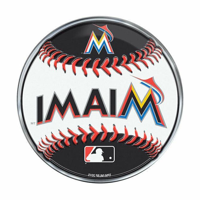 miami marlins baseball emblem mlb 3 25