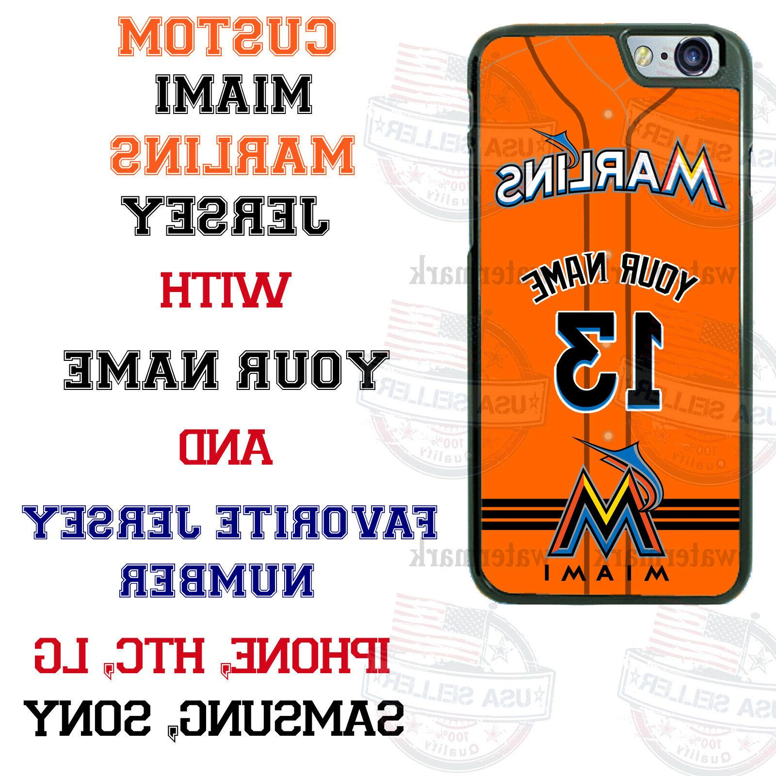 miami marlins baseball personalized phone case