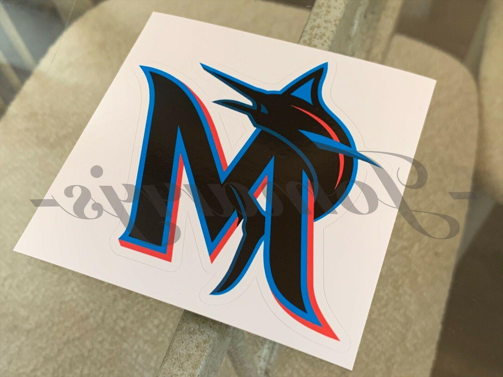 Miami Marlins Baseball Logo MLB Vinyl