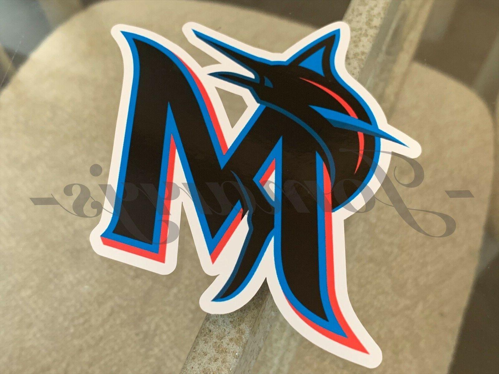 miami marlins baseball team logo mlb sticker