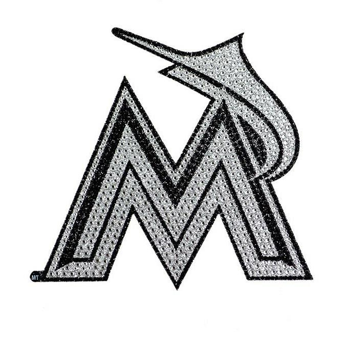 miami marlins bling auto emblem 6 25