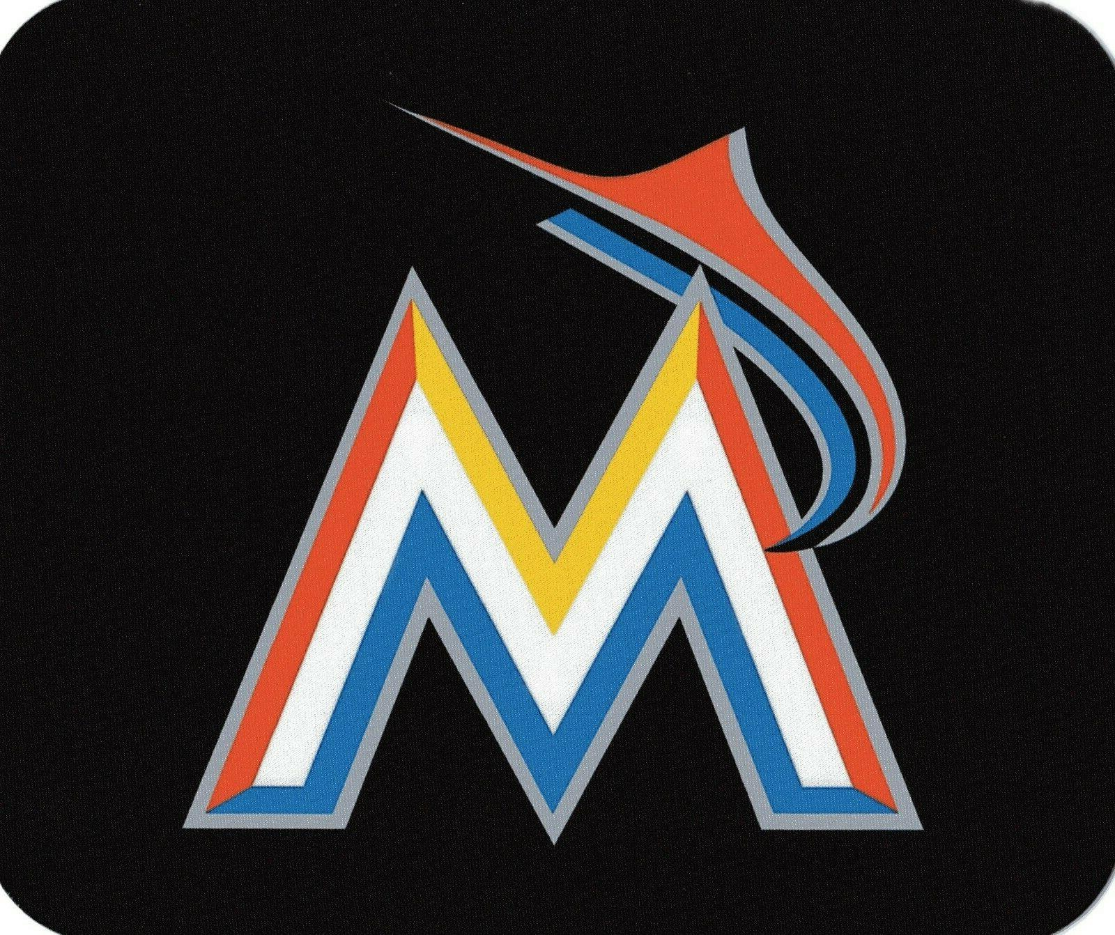 miami marlins computer laptop mouse pad