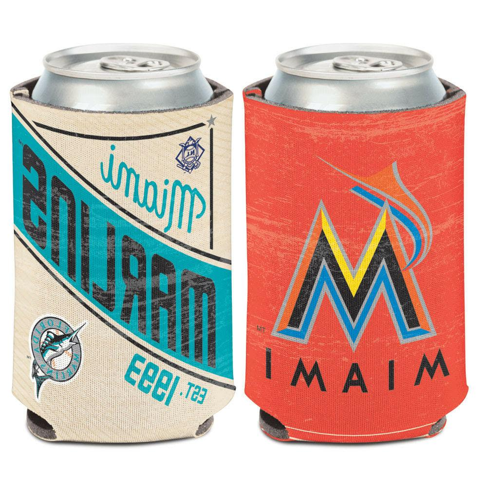 miami marlins cooperstown can cooler 12 oz