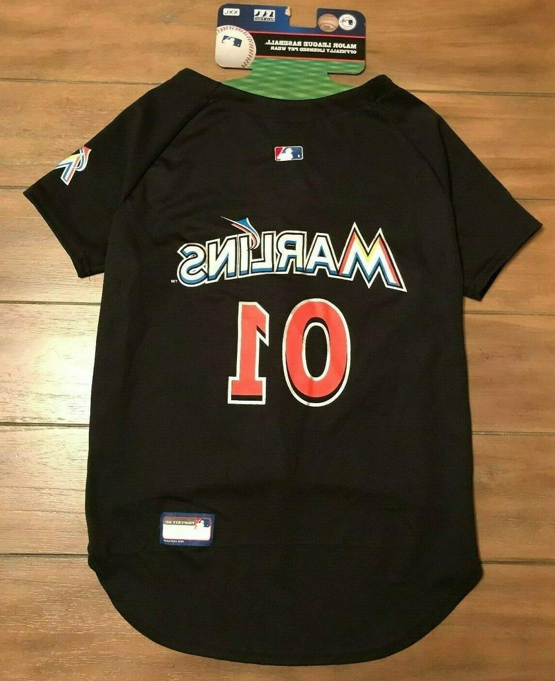 miami marlins dog jersey shirt xxl black