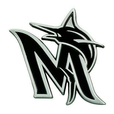 Miami Marlins Heavy Metal 3-D Chrome Emblem