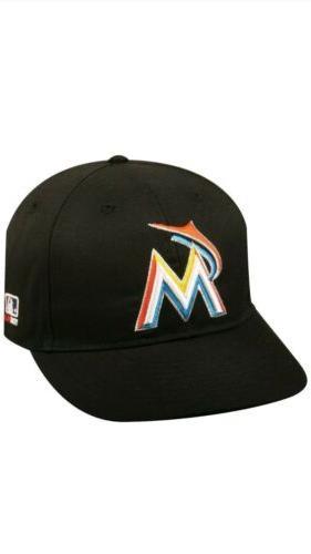 miami marlins home replica baseball cap adjustable