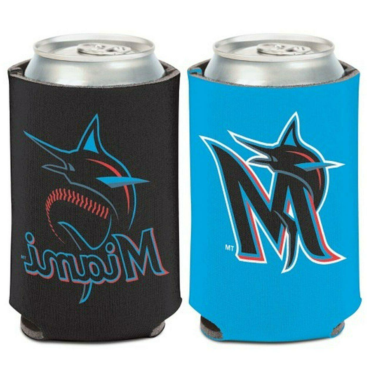 miami marlins logo can cooler 12oz collapsible