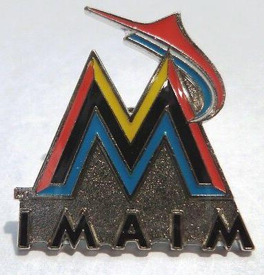 miami marlins logo pin