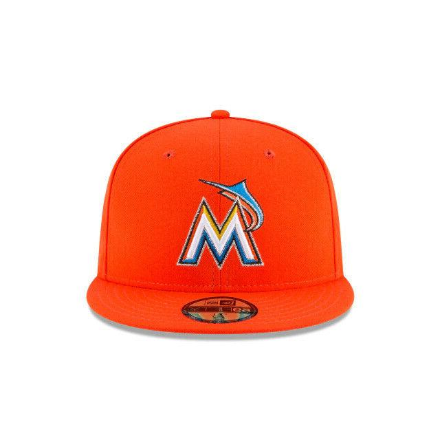 Miami Marlins MLB Era Authentic 59FIFTY Fitted Hat-Orange
