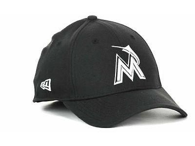 miami marlins mlb black and white ace