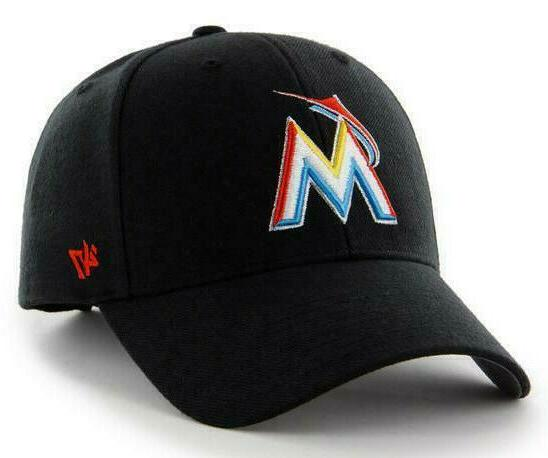 MIAMI MARLINS MLB BLACK MVP BRAND VINTAGE CAP
