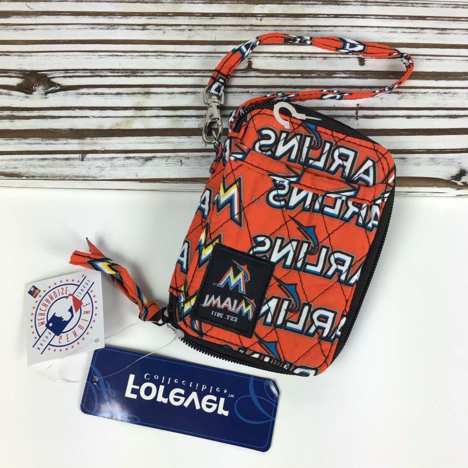 Miami Marlins Quilted w Strap Keychain