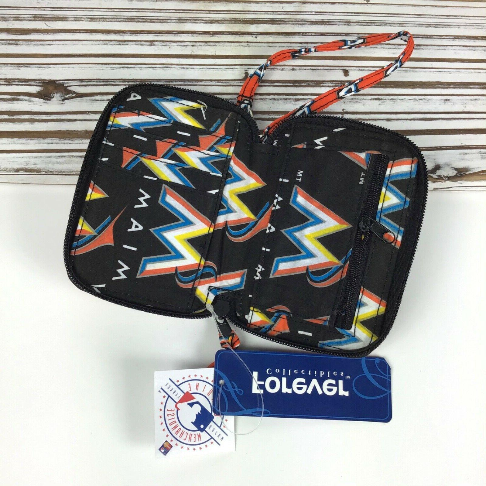 Miami Marlins Quilted Strap Keychain ID