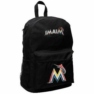 miami marlins mlb sprinter black backpack school