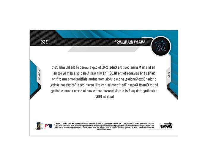 Miami TOPPS Card - postseason on