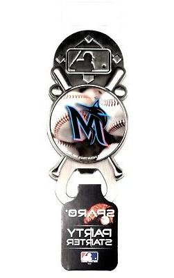 Miami Marlins New Logo Party Starter Magnetic Pewter Bottle