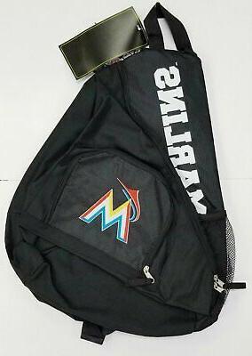 miami marlins premium backpack heavy duty sling
